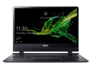 ACER Swift 7 (SF714-51T-M2FT) Notebook mit Core™ i7, 8 GB RAM, 256 GB & Intel® HD-Grafik 615 in Schwarz