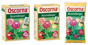 Rosendünger, verschiedene Gebindegrößen Oscorna