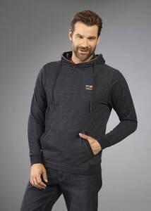 Sweatshirt mit Kapuze und Kängurutasche,Farbe anthrazit/melange