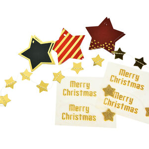 Geschenkverpackungs-Set X-Mas, FSC® Mix, 15-teilig, bunt
