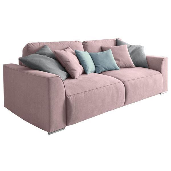 Sofa mit Schlaffunktion in Pink 'Lazy 3DL'