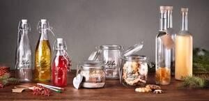 Bügelflasche, Bügelglas, Flasche mit Korken