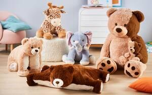 Safaritier, Teddybärkissen, XXL-Teddybär