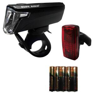 Fahrradbeleuchtung Set Front-/Rücklicht Bluebird LED 30/15 LUX