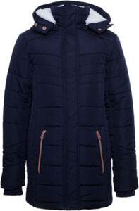Winterjacke mit Teddyfutter  dunkelblau Gr. 164/170 Mädchen Kinder
