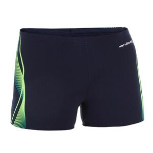 Badehose Boxer 500 Fit Herren Cadro blau/grün