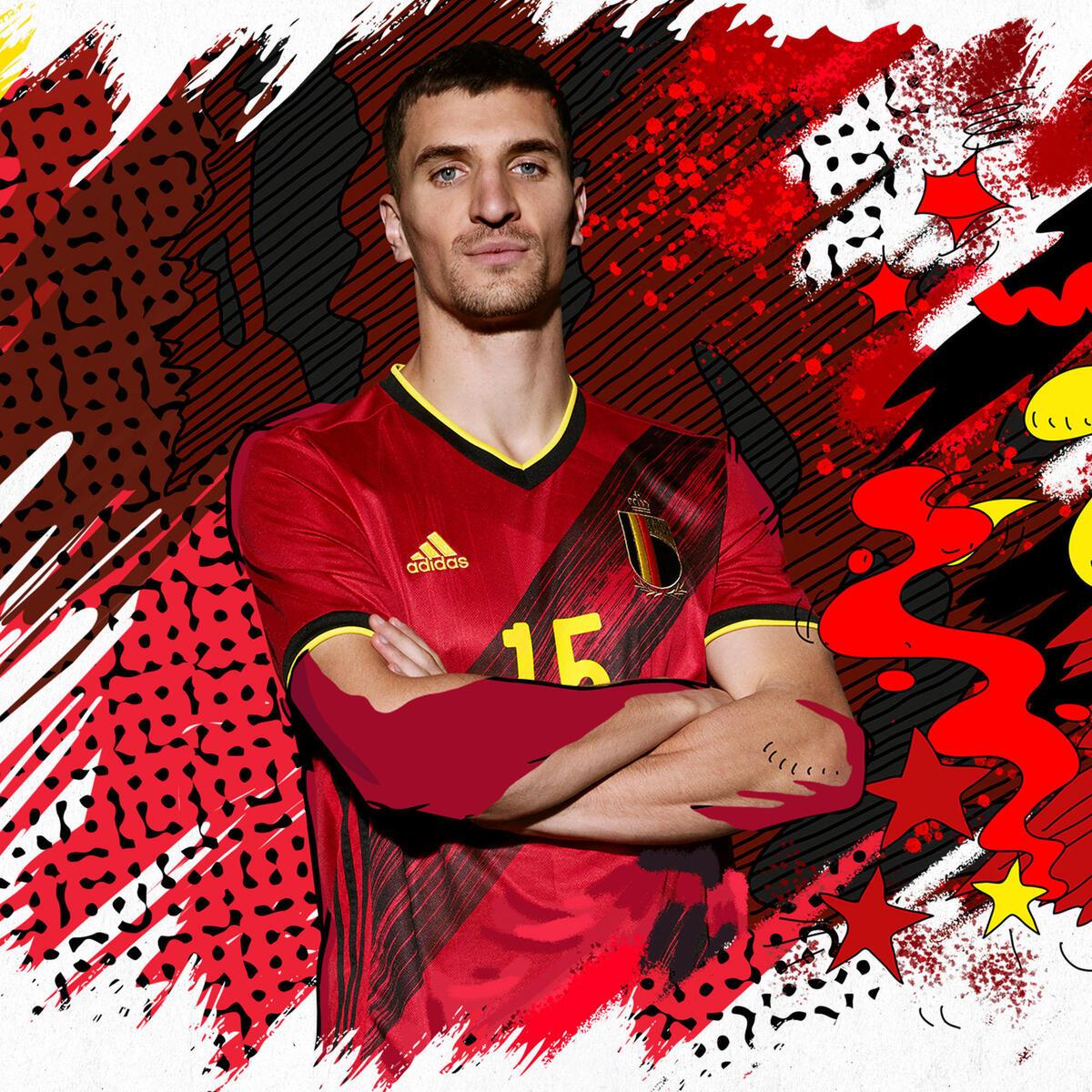 Bild 5 von Fußballtrikot Belgien Home EURO 2020 Erwachsene