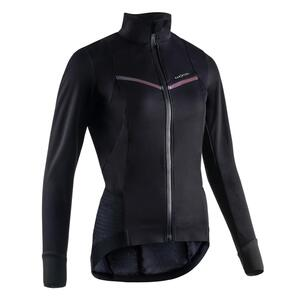 Fahrrad Winterjacke Rennrad RR 900 Damen schwarz