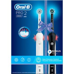 Oral-B Elektrische Zahnbürste PRO 2 2900 mit 2. Handstück, schwarz/weiß