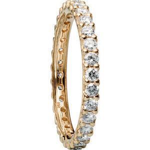 Moncara Damen Diamantring, 585er Gelbgold