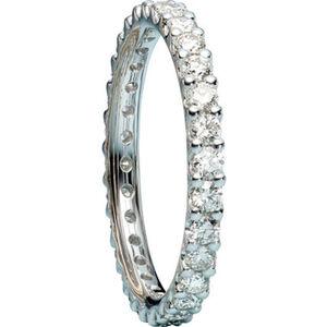 Moncara Damen Diamantring, 585er Weißgold, 56, weißgold