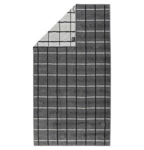 Cawö Duschtuch Noblesse Square, 80 x 150 cm, anthrazit, anthrazit/grau, 080x150 cm