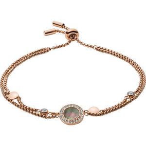 "Fossil Damen Armband Classics ""JF02951791"", Edelstahl, rosévergoldet, roségold, keine Angabe"