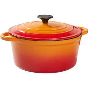 Yorn Home Cocotte, rund, orange, Ø 24 cm, orange