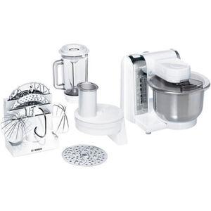 Bosch Küchenmaschine MUM48CR1, weiß, weiß/ chrom