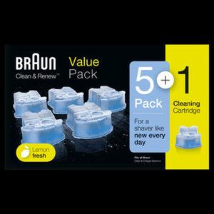 Braun Reinigungskartuschen Clean&Renew CCR - 5+1 Promo-Pack
