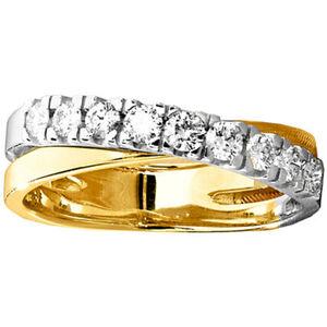 Moncara Damen Ring, 585er Gelb-/Weißgold mit Diamanten