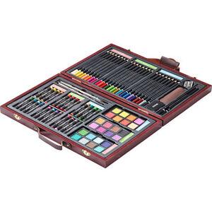 KreativArt Künstlerset im Holzkoffer, 80-teilig, mehrfarbig