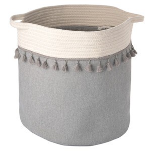 Deko-Korb mit Tasseln