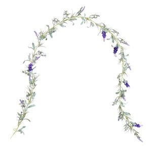 FLORISTA Lavendel Girlande 150cm