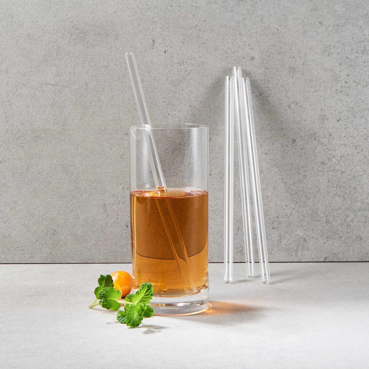 Bild 3 von LONG DRINK Glastrinkhalm mit Bürste 5er-Set