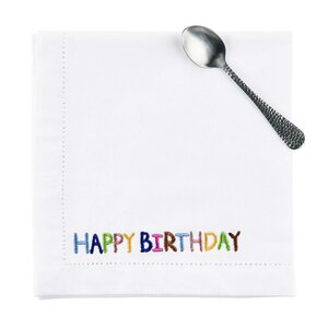 HAPPY BIRTHDAY Serviette 45x45 cm