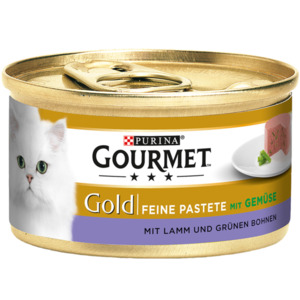 12 x 85g Gourmet Gold Feine Pastete Lamm & Grüne Bohnen (Multipack)