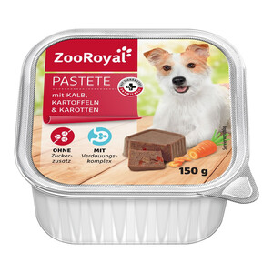 11 x 150g ZooRoyal Pastete mit Kalb, Kartoffel & Karotten (Multipack)