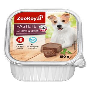 11 x 150g ZooRoyal Pastete mit Rind & Leber (Multipack)