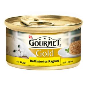 12 x 85g Gourmet Katzenfutter Gold Raffiniertes Ragout Huhn (Multipack)