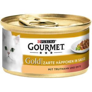 12 x 85g Gourmet Gold Zarte Häppchen Truthahn & Ente (Multipack)