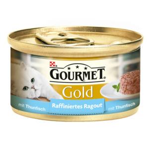 12 x 85g Gourmet Katzenfutter Gold Raffiniertes Ragout Thunfisch (Multipack)
