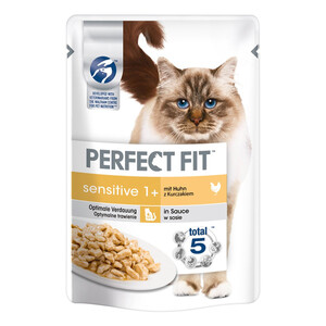 12 x 85g Perfect Fit Katzenfutter Sensitive mit Huhn (Multipack)