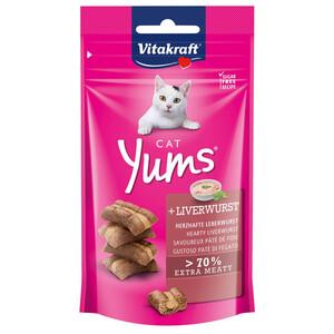 9 x Vitakraft Katzensnack Cat Yums Leberwurst (Multipack)