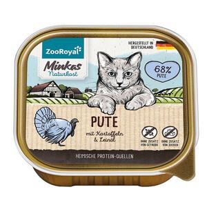 16 x 100g ZooRoyal Minkas Naturkost Adult Pute mit Kartoffel & Leinöl (Multipack)