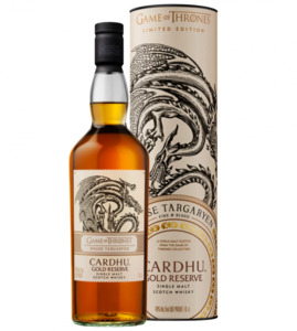 "Cardhu Gold Reserve Whisky, Game of Thrones House ""Targaryan"""
