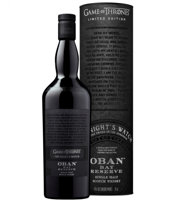 """Oban Bay Reserve Whisky, Games of Thrones """"Night"""""""