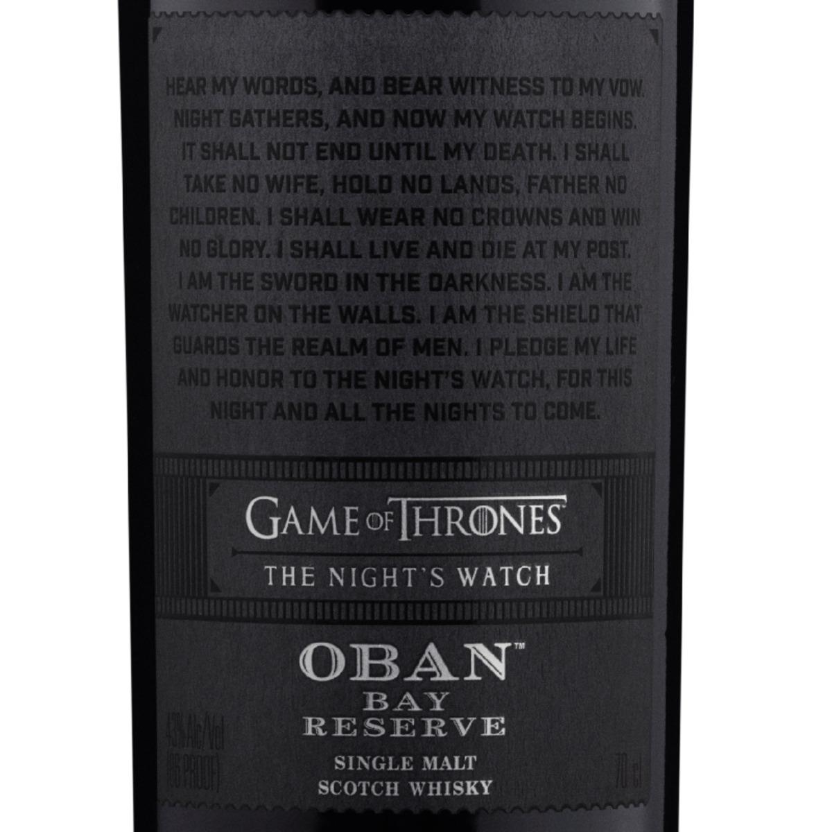 """Bild 2 von Oban Bay Reserve Whisky, Games of Thrones """"Night"""""""