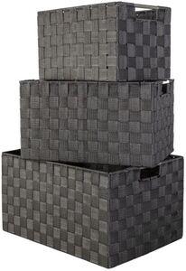 Aufbewahrungskorb - aus Textil - schwarz - verschiedene Größen