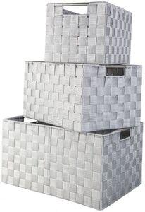 Aufbewahrungskorb - aus Textil - grau - verschiedene Größen