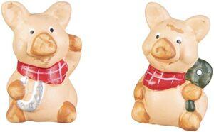 Glücksschwein - aus Terrakotta - 4 x 3,5 x 6,5 cm - 1 Stück