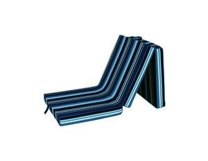 Ortho-Vital Klappmatratze, Streifen - Blau-Weiß
