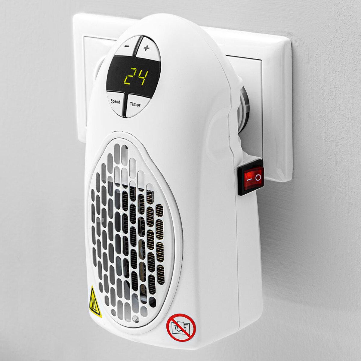 Bild 1 von EASYmaxx Mini-Heizung 500W, weiß mit Fernbedienung