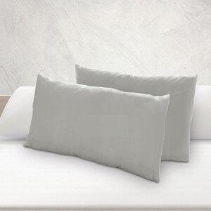Dreamtex Nicki-Kissenbezüge 40x80cm 2er Pack - Silber