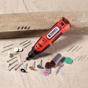 Kraft Werkzeuge Akku Schleif- und Gravurset