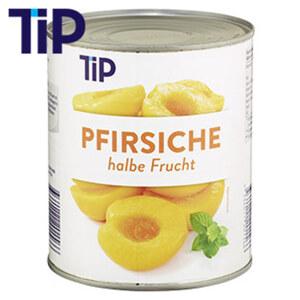 Pfirsiche halbe Frucht,  jede 850-ml-Dose/465 g Abtropfgewicht