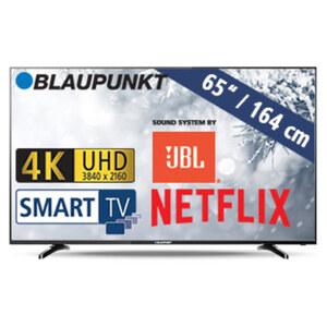 BLA-65/405V • 3 x HDMI, 3 x USB, CI+, SD-Kartenslot • geeignet für Kabel-, Sat- und DVB-T2-Empfang • Maße: H 85 x B 146,2 x T 8,7 cm • Energie-Effizienz A+ (Spektrum A+++ bis D)
