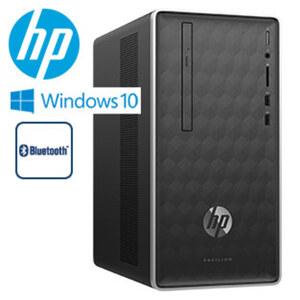 Desktop-PC-Pavillion-590-a0727ng · Intel® Celeron® J4005 Prozessor (bis zu 2,7 GHz) · Intel® UHD 600 Grafikkarte · WLAN AC · 2 x USB 3.1, HDMI · DVD-Writer, Speicherkartenlesegerät