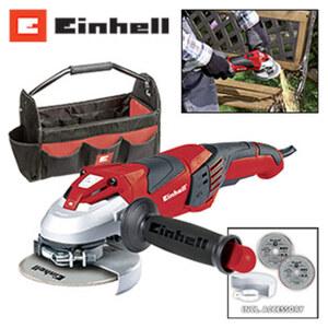 Winkelschleifer TE-AG 125 CE Kit Leistung 1100 W, Leerlaufdrehzahl 3.00 - 12.000 min-1, Scheibendurchmesser 125 mm