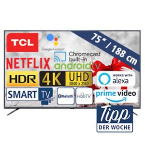 75EP662 • 3 x HDMI, 2 x USB, CI+ • geeignet für Kabel-, Sat- und DVB-T2-Empfang • Maße: H 96,5 x B 168 x T 9 cm • Energie-Effizienz A (Spektrum A+++ bis D)